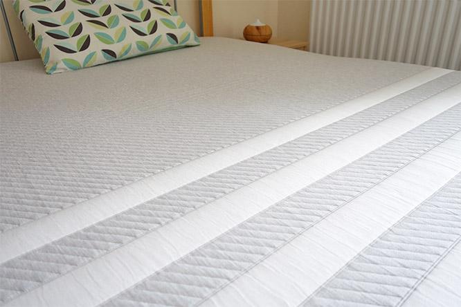 leesa mattress top cover closeup