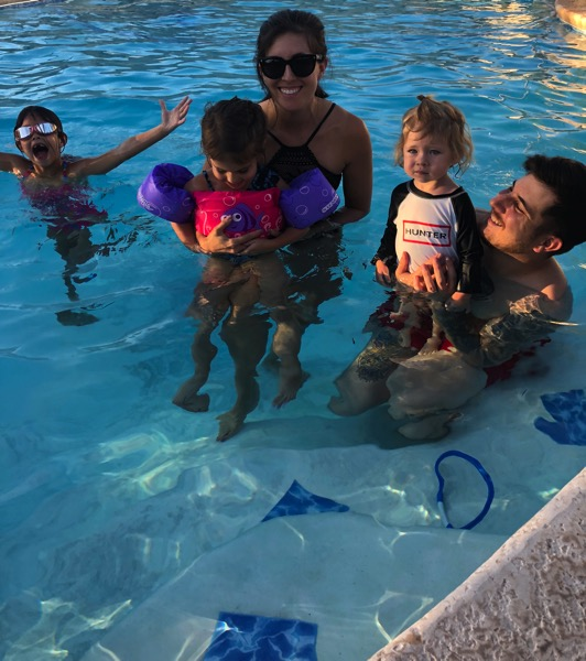Pool time with the fam