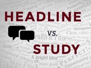 headline vs study