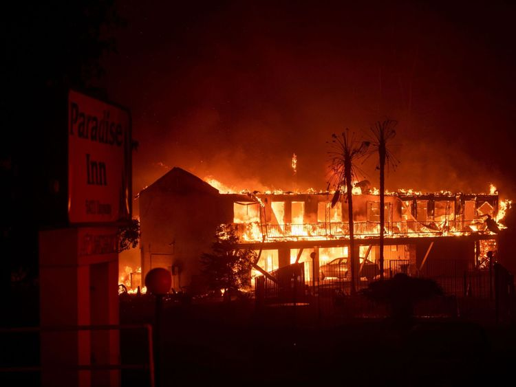 Paradise Inn was gutted by the blaze