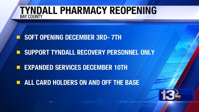Tyndall Pharmacy Reopening