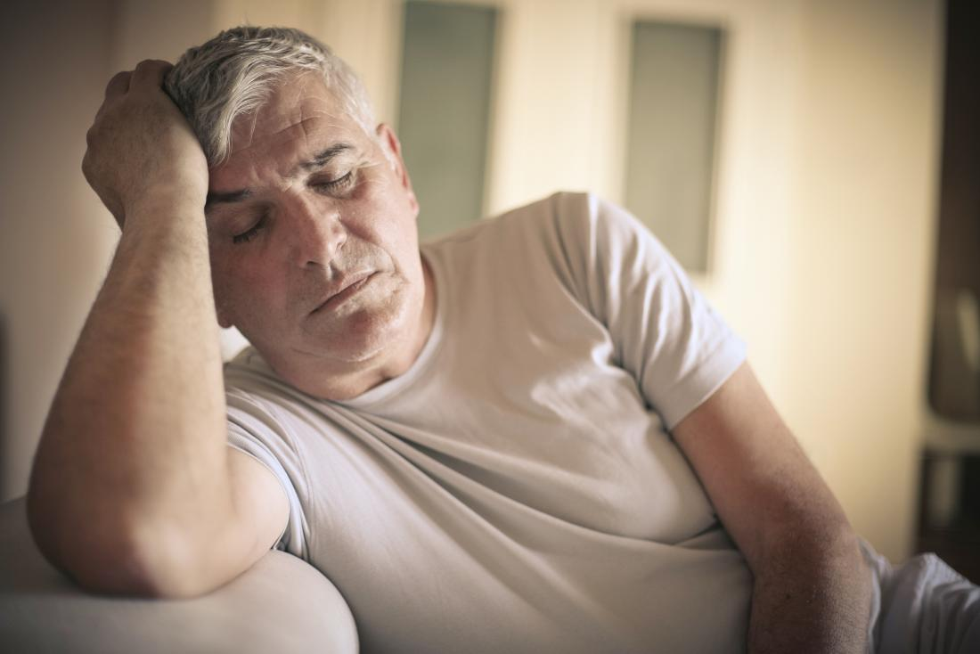 Man with fatigue and depression caused by lupron