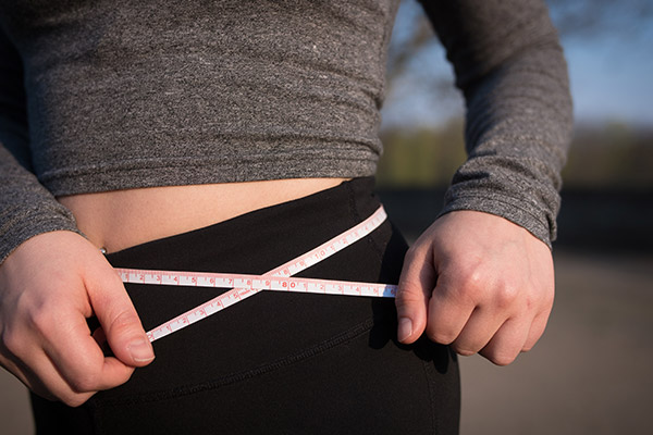 woman weight loss measurements