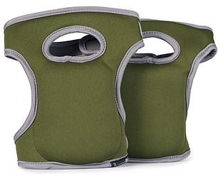 Kneelo Pads are contouredfoam pads you attach to your knees with Velcro for garden and DIY jobs at ground level