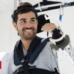Paralysed man moves in mind-reading exoskeleton
