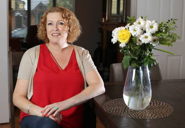 Audrey Kane pictured at her home in Kildare (loss at this point, 10kg)
