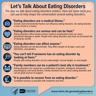 cover image of NIMH publication Let's Talk About Eating Disorders
