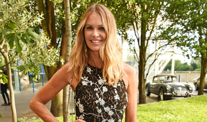 'Right now we need to look after ourselves,' urged Elle Macpherson's Welleco, alongside a link to buy the company's Super Booster 'immune system support' supplements.