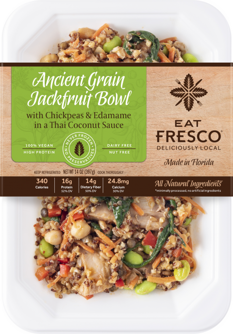 Ancient Grain Jackfruit Bowl, 14 oz., front of package picture